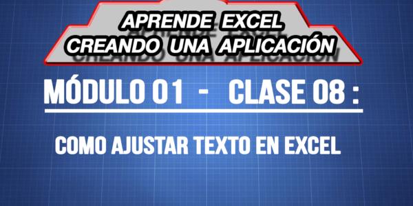 Como ajustar texto en Excel