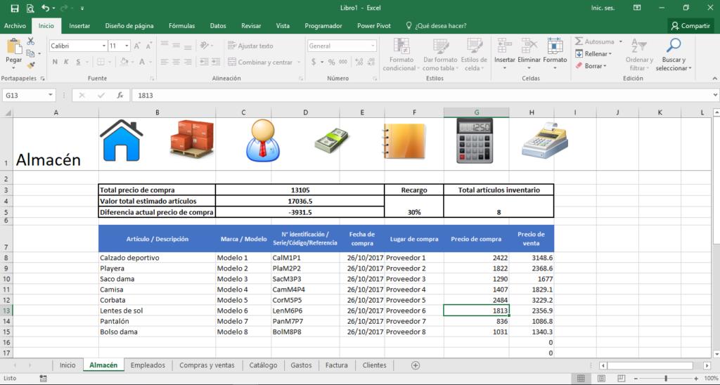 Como crear un Control de Stock en Excel