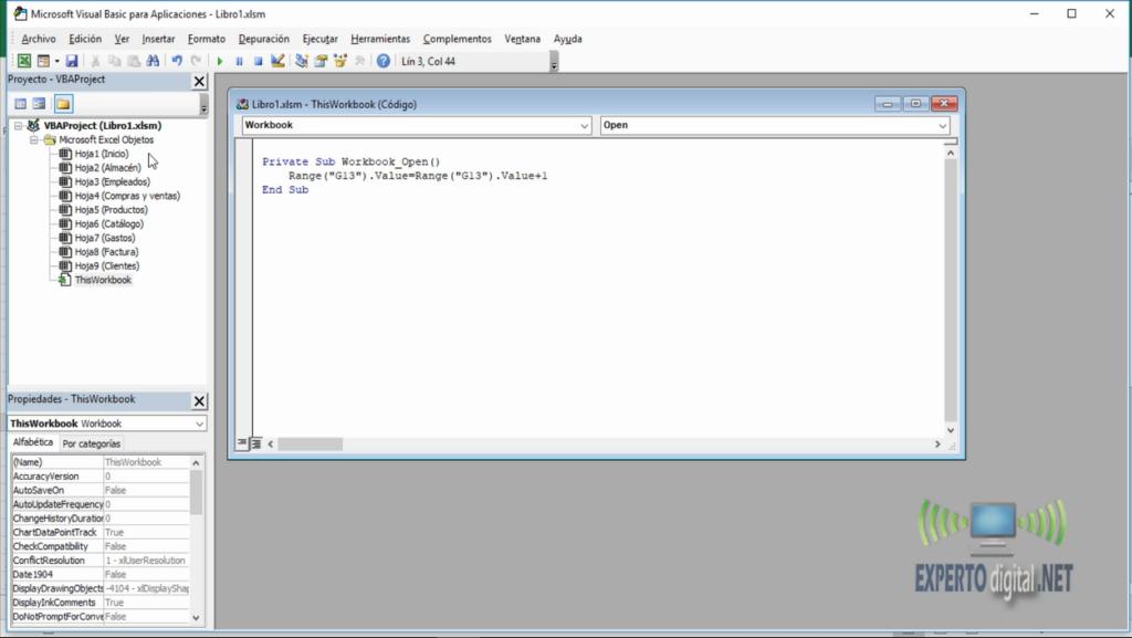 Codigo de autonumeracion en Visual Basic para Excel