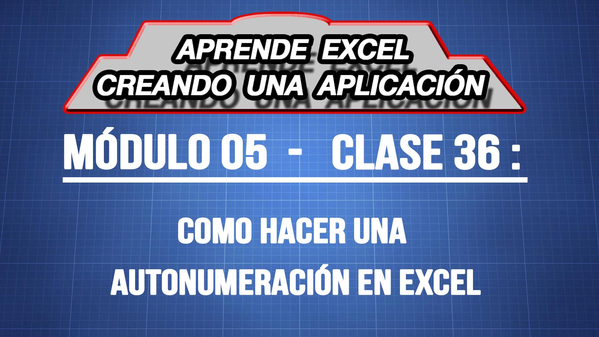 Como hacer una autonumeracion en Excel — ExpertoDigital.Net