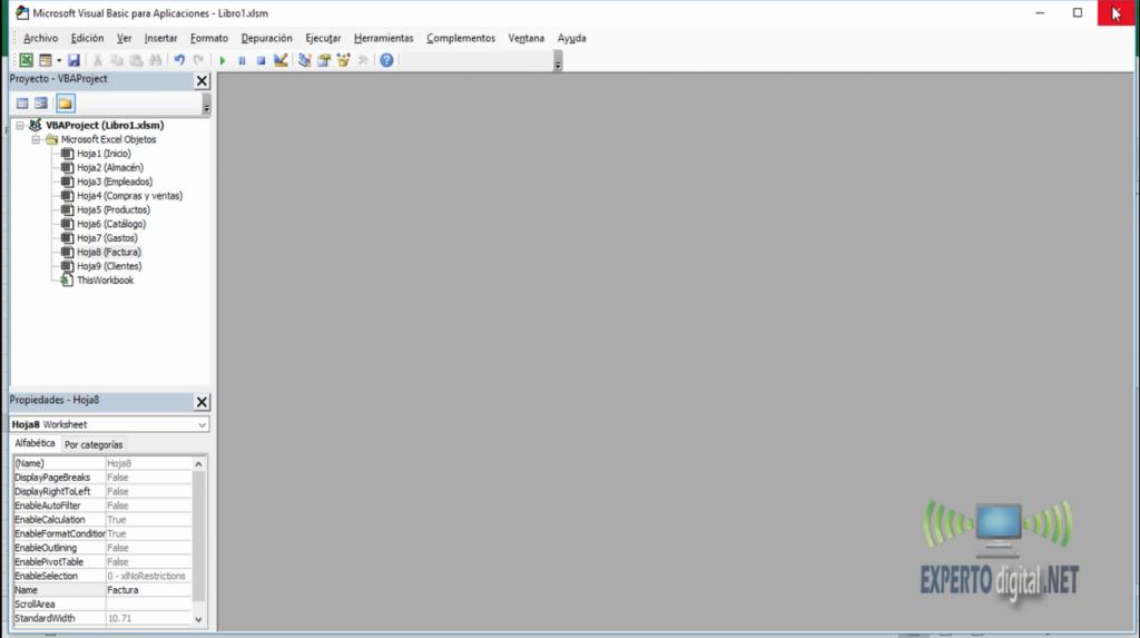Editor de VBA en Excel