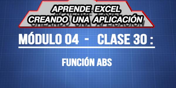 Funcon ABS en Excel