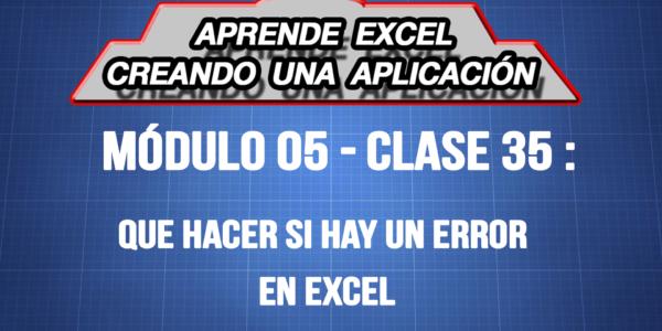 Que hacer si hay un error en Excel