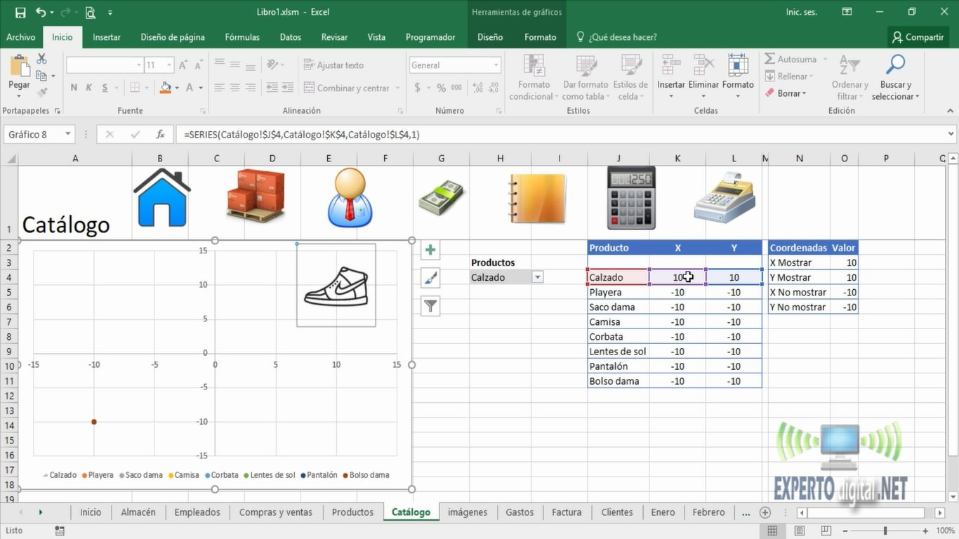 hacer grafica de dispersion en excel