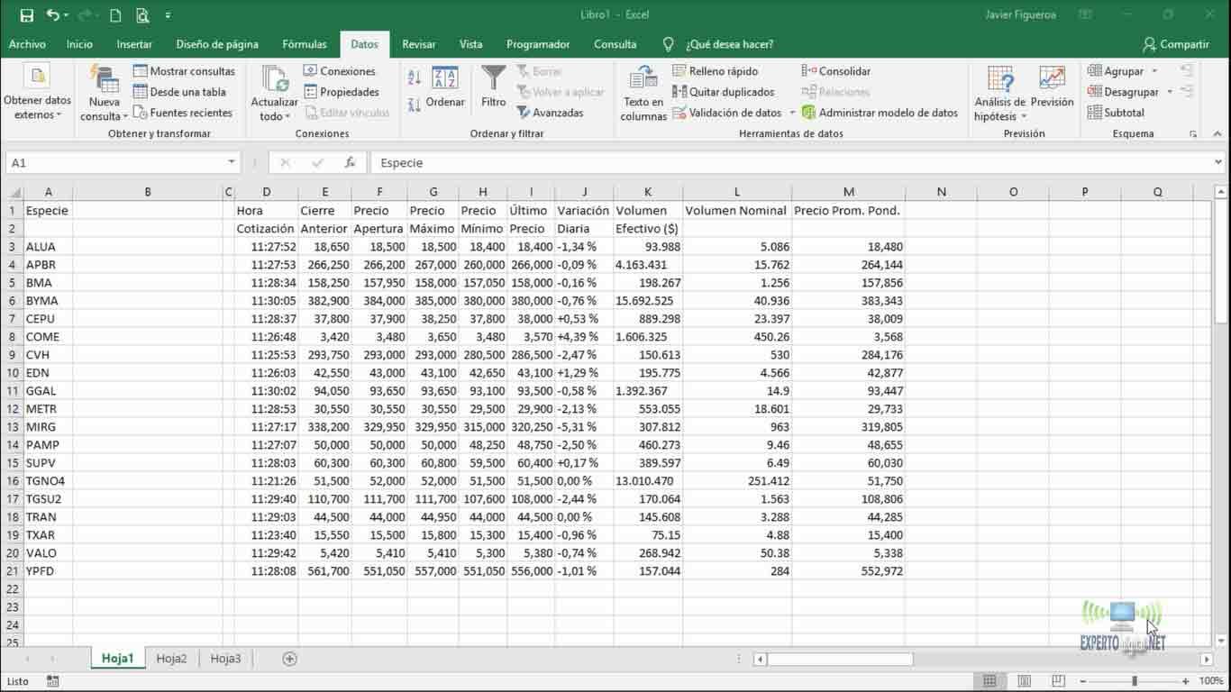 excel-datos-importados-desde-internet