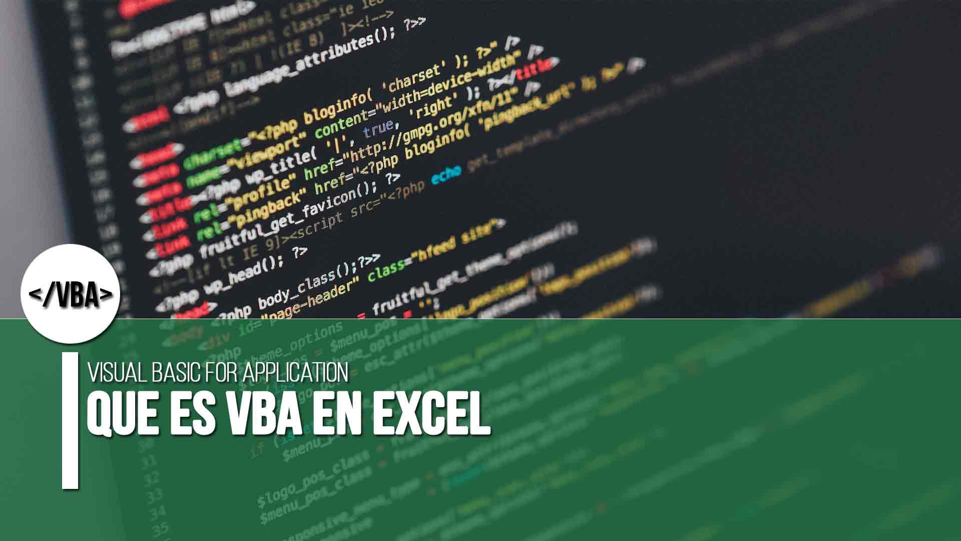Qué es VBA en Excel